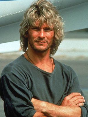 First, Patrick Swayze (this is a favorite photo of him):