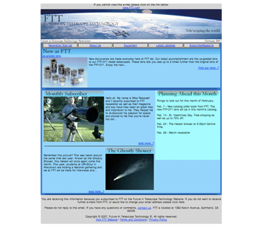 """Future in Telescope Technology - Newsletter"" 2006"