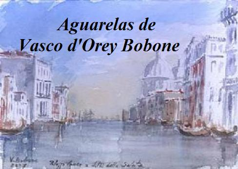 Watercolors by Vasco d'Orey Bobone