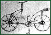 El primer dibujo de una bicicleta de Leonardo da Vinci(publicado por Antonella SANTIS