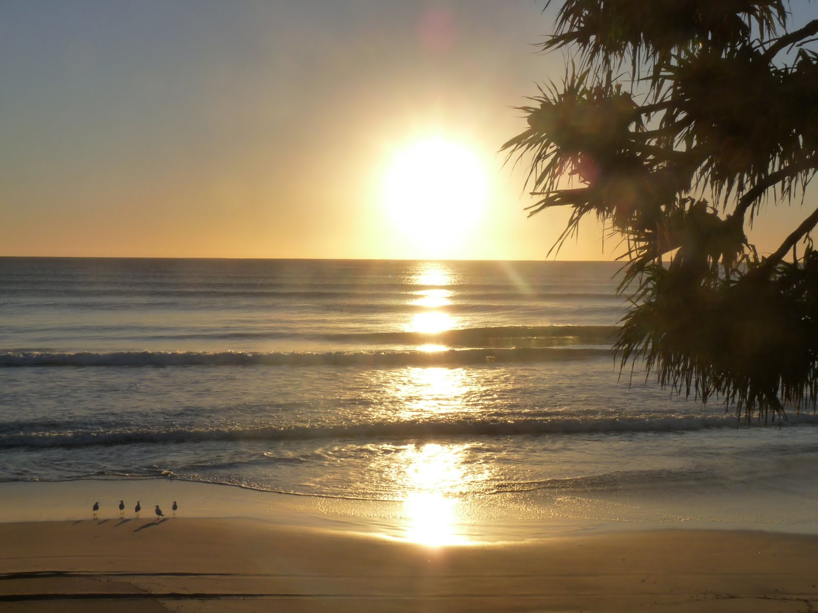 SUNRISE OVER BEAUTIFUL RAINBOW BEACH QLD
