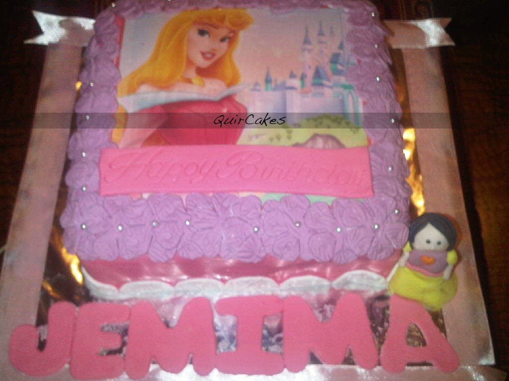 Quircakes Spotted Aurora On A Cake