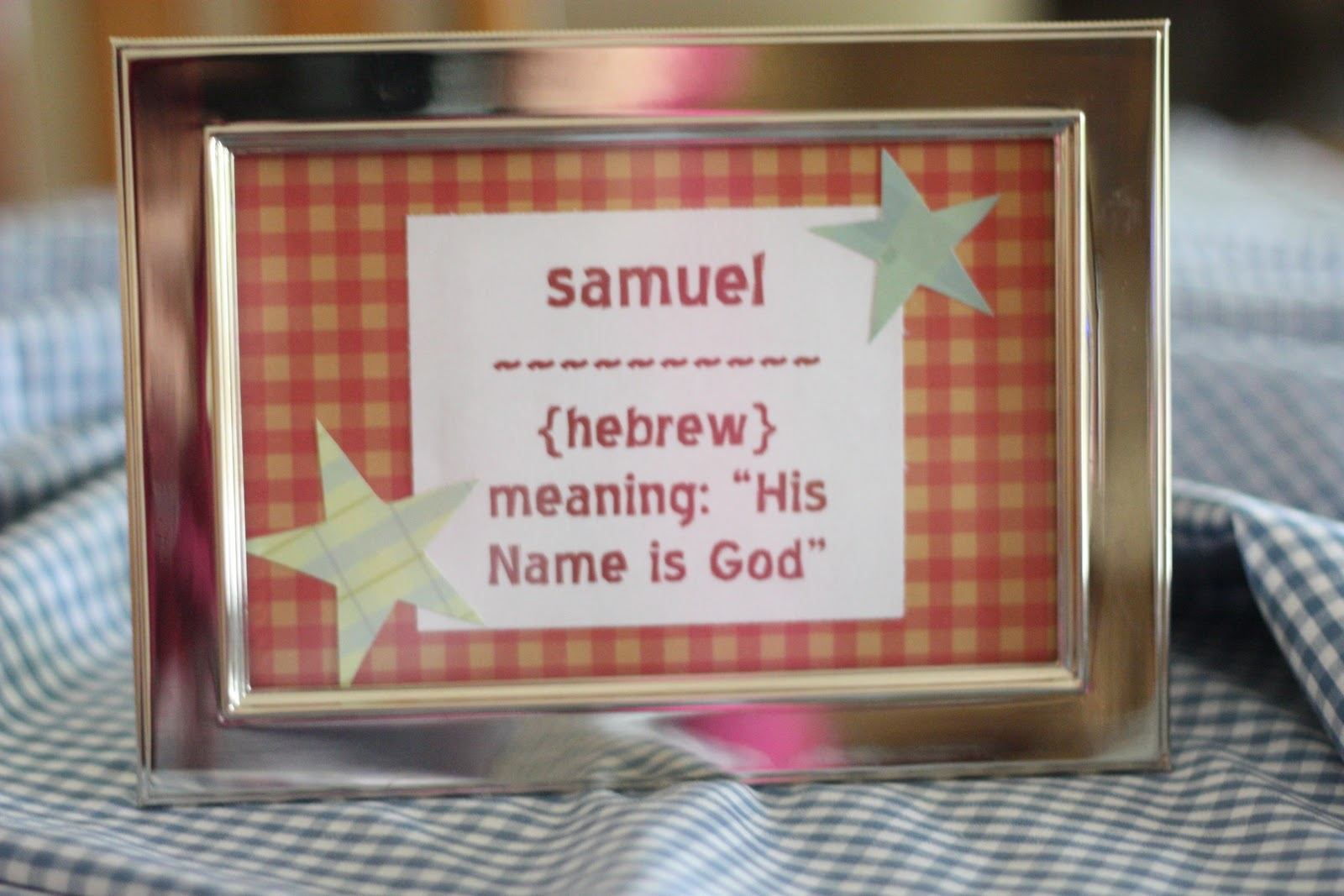 I Love Knowing The Meaning Of Names! I Used BabyNamesWorld.com To Look Up  The Meaning Of U201cSamuelu201d And Then Typed It Out On A Word Document.