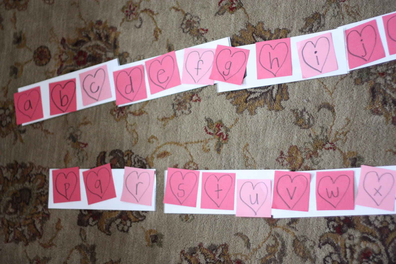 Heart Capital and LowerCase Letter Matching  I Can Teach My Child