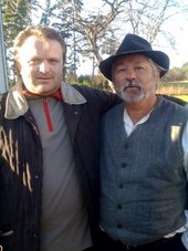 ..impreuna cu Ceangalo undeva in Franta la filmarile noului film al regizorului francez Tony Gatlif