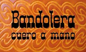 Bandolera - cuero a mano