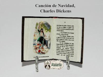 libro miniatura Cuento de Navidad. Dickens
