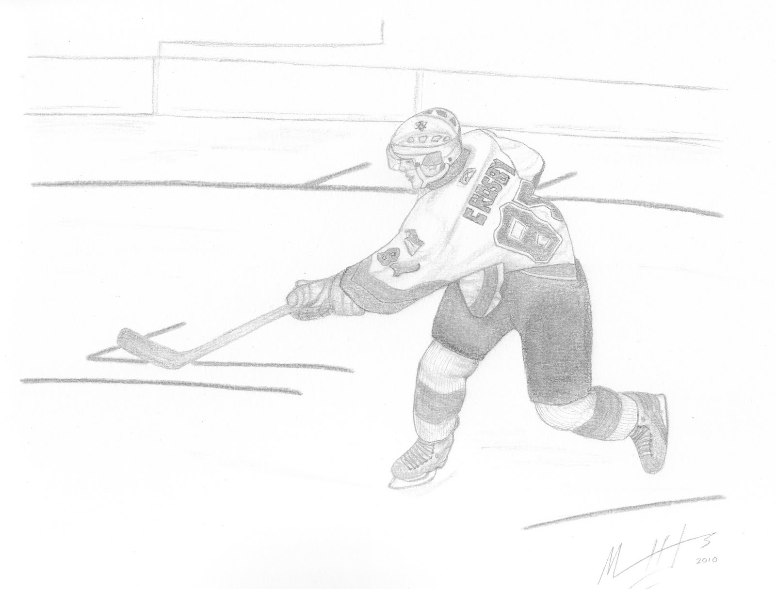 Drawing the pittsburgh penguins sidney crosby for Pittsburgh penguins coloring pages