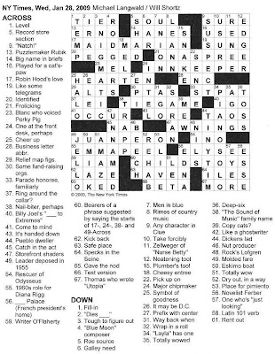 The new york times crossword in gothic january 2009 click on image to enlarge malvernweather Gallery
