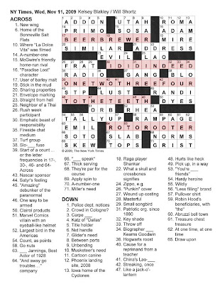 The New York Times Crossword In Gothic 111109 Letter