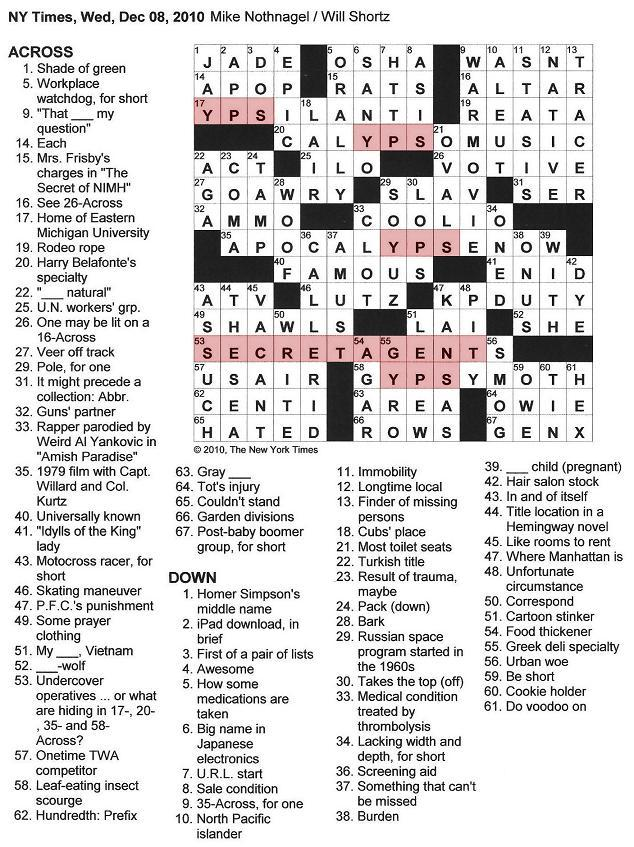 Sc 1 St The New York Times Crossword In Gothic