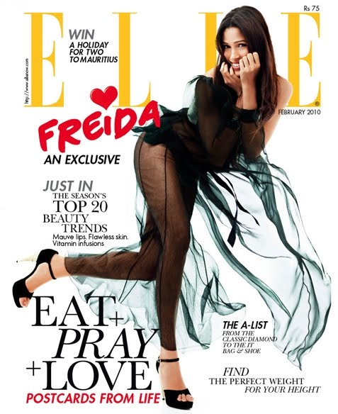 Freida Pinto Sizzling Hot Elle India Photoshoot
