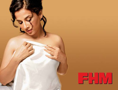 Vidya Balan Sensuous Hot Photo Shoot for FHM