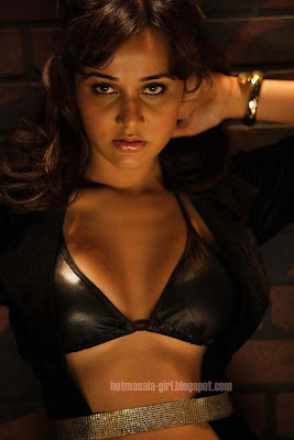 Nisha kothari Posing Hot In Black Bikini