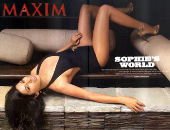 Sophie Chaudhary Sizzles In Bikini For Maxim August'09