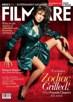 Priyanka chopra's stunning looks on the cover of Filmfare