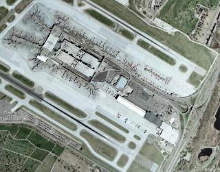 Satellite view of Minneapolis St Paul airport