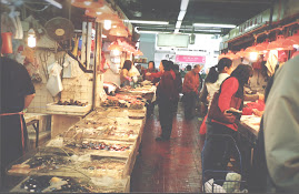 Typical Fish market in Hong Kong.