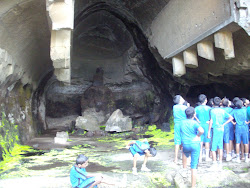"A group of School Children at ""Kondavu Caves""."
