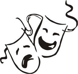 فن-المسرح-المسرحي-مسرحيات-مسرحيون-وجوه-ضاحكة-عابسة