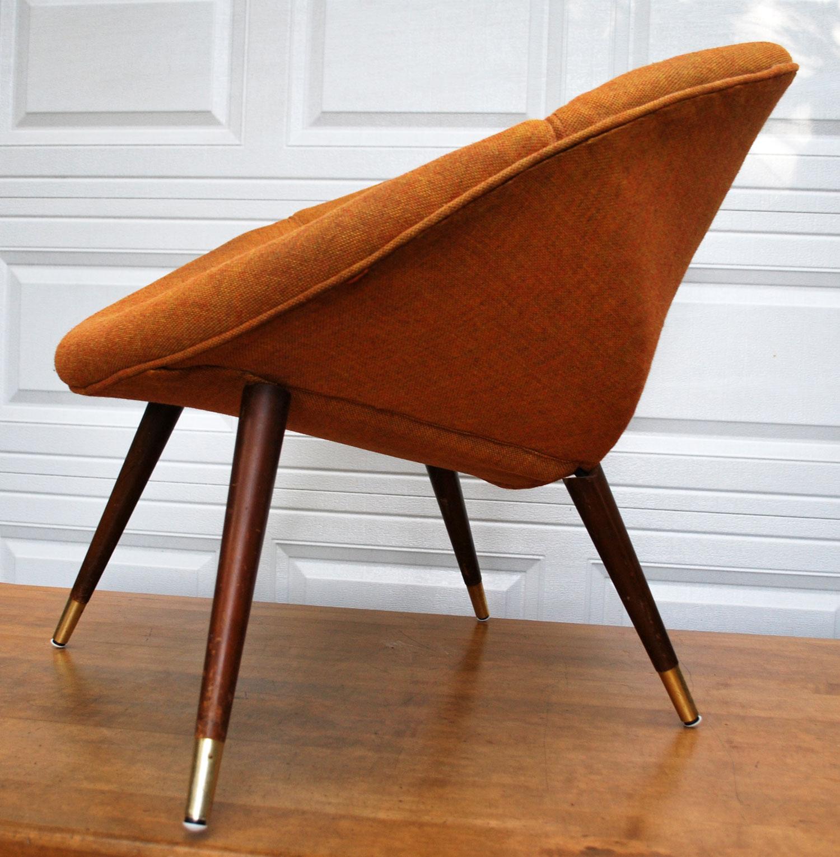 Delightful Vintage Orange Saucer Chair