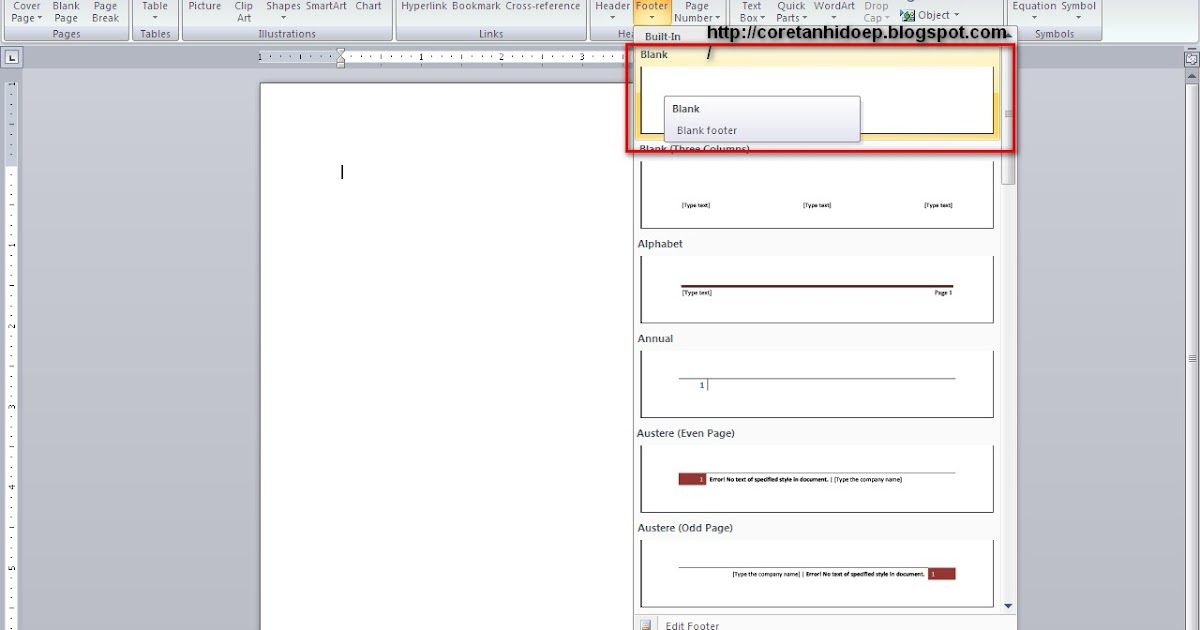 Teknologi Mencetak Lokasi Dokumen Pada Microsoft Word 2007