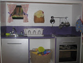 Entertainment Center Turned Play Kitchen