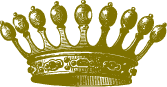 Coronas de reyes en PNG doradas con fondo transparente