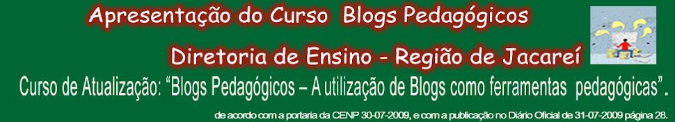 Apresentação do Curso - Blogs Pedagógicos