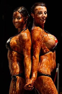 Vegemite Bikini Wrestling In Australia