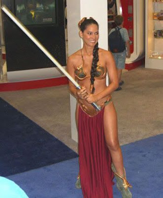 jennifer aniston princess leia slave outfit. costume oct saw the innuendo,