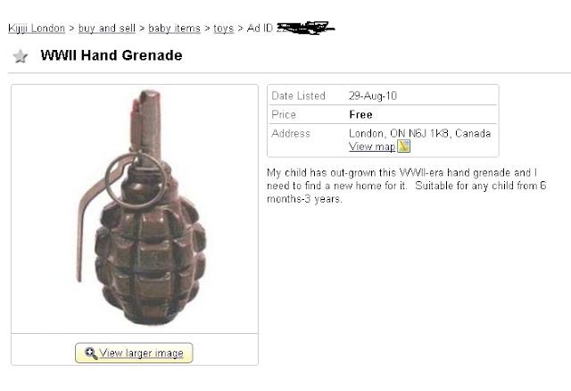 grenade for kids