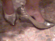 mis zapatos dorados