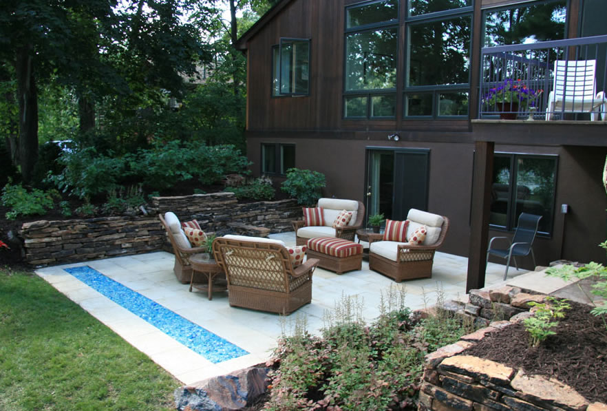 Home design modern landscapes design exterior for Contemporary backyard landscaping ideas