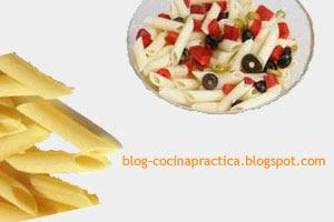 Recetas de Cocina Fáciles de Pasta: Macarrones primaverales en proceso de elaboración y su ingrediente principal.