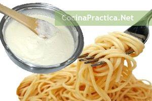 Espaguetis con salsa láctea, una receta fácil de preparar.