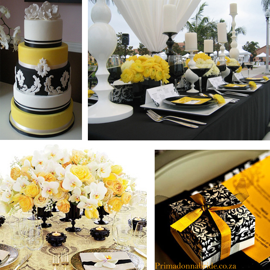 wedding Yellow Black And White Wedding Damask Colours Primadonnabride Co Za1