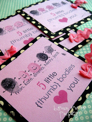 Thumbprint Valentines