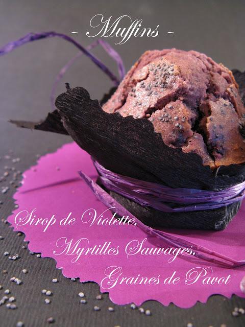 J 39 en reprendrai bien un bout muffins violets sirop - Sirop de violette ...