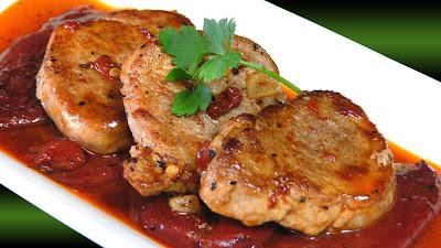 Solomillo de cerdo ib rico con piquillos receta por Solomillo iberico al horno