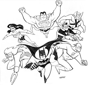 Liga da Justiça Colorir Desenhos