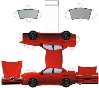 Alfa Romeu - Brinquedo de Papel
