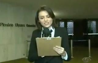 imagem da jornalista do cqc