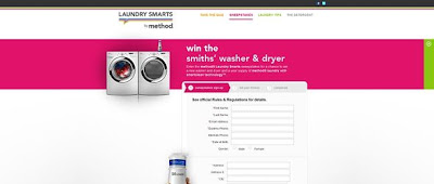 Laundrysmarts.com, Laundry Smarts by method Sweepstakes