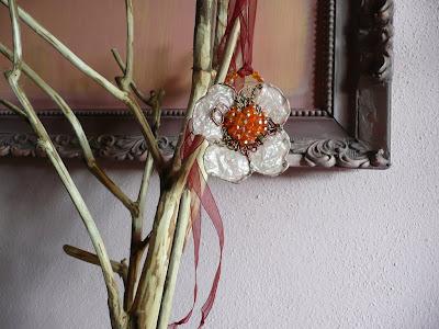 Gioielli d'arte in carta, filo, corda, tessuto, legno, metallo ed altri materiali poveri - estate 2010 - ciondolo 10