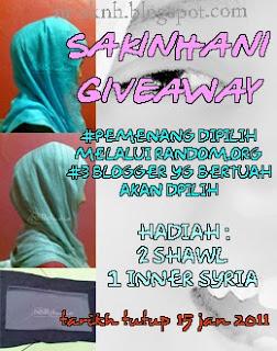 :: sakinhani giveaway ::