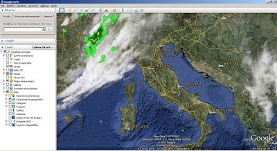 previsioni meteo-google earth