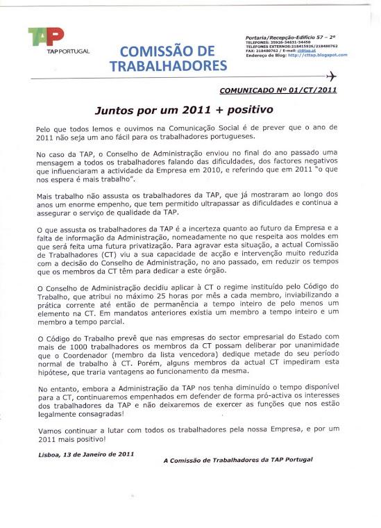 Comunicado 01/2011