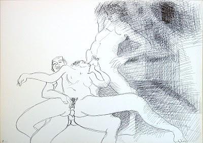 dessin erotique triolisme