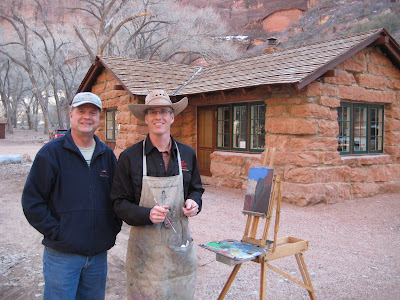 Artists Dennis Farris and Roland Lee in Zion National Park